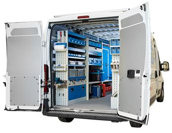 01_A large van fitted out as a mobile workshop
