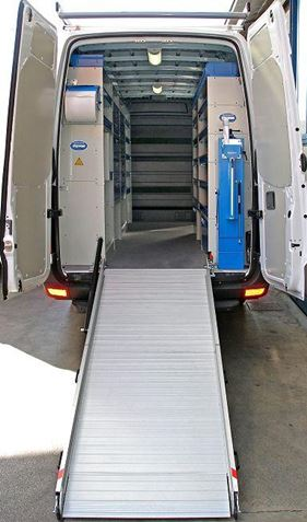 Crafter with Loading Ramp for Cargo Loading and Unloading