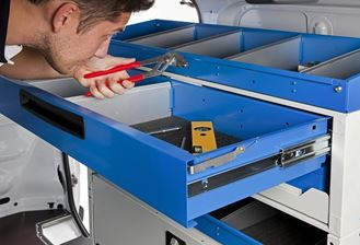 02_Chest of Drawer designed for Vans by Syncro System, installed by Van Extras