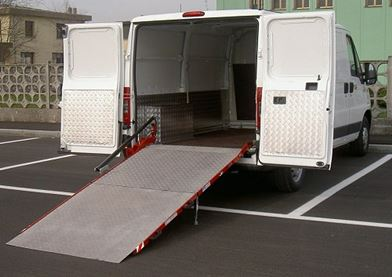 In New Zealand you can choose heavy duty Loading Ramps for big vans like the Ducato