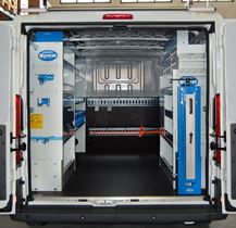 01_Racking by Syncro New Zealand in a plumbing business' Ducato