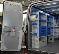 02_A Sprinter with aluminium tread plate liners and racking