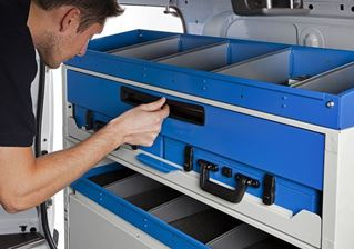 01_Storage Space inside Drawers in Vans equipped by Van Extras